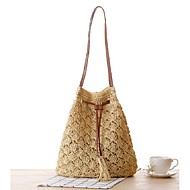 Women Straw Casual Shoulder Bag White / Green / Yellow / Brown / Khaki