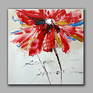 Hand-painted  Abstract Flowers Oil Painting With Stretched Frame
