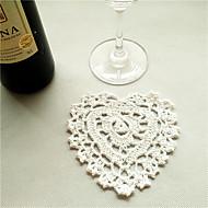 COASTER(Blanc,Bambou)Forme de cœur