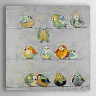 håndmalte oljemaleri dyr fugler står på tråd med strukket ramme 7 veggen arts®