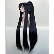 vidunderlige super lange lige cosplay paryk med hestehale syntetisk hår Parykker naturlige animerede party parykker 3 farver