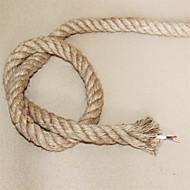 (10m / lot) 2 * 0.75 antik çift örgülü kenevir halat elektrik teli bağbozumu kolye ışık kablosu örme ışıklar aksesuarları
