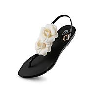 Women's Spring / Summer / Fall Jelly / Slippers Rubber Outdoor / Dress / Party & Evening Flat Heel Black