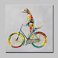 große handgemalte Gemälde-moderne abstrakte Tier Hund Leinwandbilder mit gestreckten Rahmen fertig zum Aufhängen