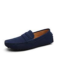 Herre-Lær Semsket lær-Flat hæl-Lette såler formell Sko-一脚蹬鞋、懒人鞋-Friluft Kontor og arbeid Fritid-
