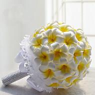"""פרחי חתונה עגול שושנים פרחי אדמוניות זרים חתונה חתונה/ אירוע פוליאסטר סאטן קצף 7.87""""(לערך.20ס""""מ)"""