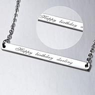 Collier Mariage / Engagement / Anniversaire / Cadeau / Sorée / Quotidien / Occasion spéciale Sans pierre ArgentHomme / Unisexe / Amoureux