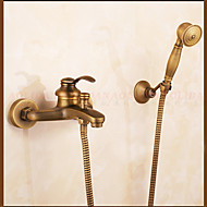 Shower Faucet / Bathtub Faucet Contemporary Waterfall / Rain Shower / Handshower Included Brass Antique Copper