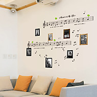 Vintage DIY Design Music Note PVC Wall Sticker Drawing Room Wall Decor Plane Wall Stickers