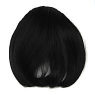 Perücke schwarz 8cm schräger Hochtemperatur-Draht knallt Farbe 4