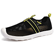 Men's Sneakers Spring / Fall Comfort Tulle Casual Flat Heel Slip-on Black / Silver / Gray Others