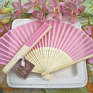 Abanico(Rosado) -Bambú- conPaño-Abanico clásico Primavera / Verano / Otoño / Invierno 42cm x 23cm x 1cm 2.4cm x 21cm x 1cm