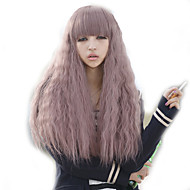 Curly Purple Lady Wig Hair Cosplay Synthetic Hair Wig
