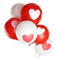 100db / tétel 12 colos 2,8 g / db latex hélium labda ballon lakodalom születésnap szív mintás kevert színű léggömb