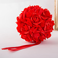 Ramos de Flores para Boda Ronda / Forma Libre Rosas Decoraciones Boda / Fiesta / noche Satén Elástico Aprox.15cm