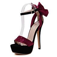 Women's Shoes Silk Stiletto Heel Heels / Fashion Boots / Basic Pump / Comfort / Novelty / Pointed Toe Sandals
