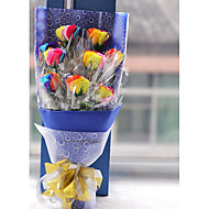 9 Rose Forever Love Colorful Flowers Wedding/Birthday Gift With Nice Cartoon Box