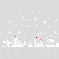 Wall Stickers Wall Decals Style Christmas Cottage PVC Wall Stickers