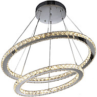 Modern Crystal Chandeliers Pendant Lighting Lamp with 2Ring D6080CM 60W CE FCC ROHS