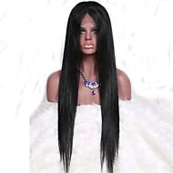 parrucca 7a serica parrucca diritta piena del merletto brasiliano dei capelli vergini diritti senza colla dei capelli umani con i capelli