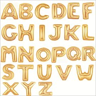 16 Inch Gold Letter Alphabet Balloons