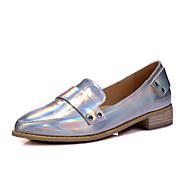 נעלי נשים-בלרינה\עקבים-דמוי עור-עקבים / שפיץ-שחור / כסוף / בז'-משרד ועבודה / קז'ואל / מסיבה וערב-עקב סטילטו
