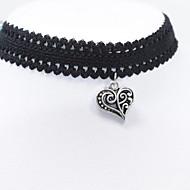 Modische Halsketten Halsketten / Torques Schmuck Alltag / Normal Modisch Spitze Schwarz 1 Stück Geschenk