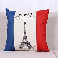 National Flags Pattern Linen Pillowcase  Home Decor pillow Cover (18*18inch)