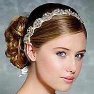 fuld krystal farvebånd satin snøre bøjle til bryllupsfest dame hår smykker