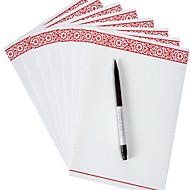 kiinalainen vanha muste voimapaperia paperi (joukko 8 kpl satunnainen kuvio)