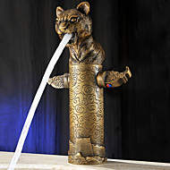 Leopard Head Style Top Grade Luxurious Antique Two Handles One Hole Bathroom Sink Faucet