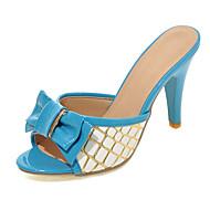 Women's Shoes Heel Heels / Peep Toe Sandals / Heels / Clogs & Mules Outdoor / Dress / Casual Blue / Pink / Red