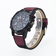 Men's Sport Watch Quartz Analog Wrist Watch PU Band Fashion Watch(Assorted Color) Cool Watch Unique Watch