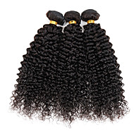 Black Brazilian Kinky Curly Human Hair 3 Bundle Wefts Hair Extension 300g/3pcs