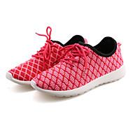 נעלי נשים-שטוחות-קנבס-נוחות-שחור / ירוק / ורוד / לבן-ספורט-עקב שטוח