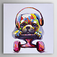 Hand Painted Oil Painting Animal Playing Pulley Dog with Stretched Frame 7 Wall Arts®