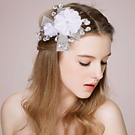 Women's / Flower Girl's Satin / Imitation Pearl Headpiece-Wedding / Special Occasion Headbands / Flowers 1 Piece