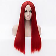la nueva peluca de pelo recto largo rojo pelucas 30 pulgadas