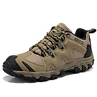 Men's Hiking Shoes Trail Running Shoes Nappa Leather Khaki