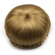 Kinky ouro encaracolado europa noiva cabelo humano sem tampa perucas chignons SP-002 1011