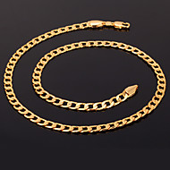 u7® 18k chunky goud gevuld ketting figaro kettingen van hoge kwaliteit franco kettingen ketting voor mannen 5mm 55cm sieraden