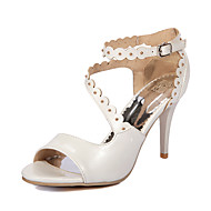 Women's Shoes Stiletto Heel Peep Toe / D'Orsay & Two-Piece Sandals Party & Evening / Dress Blue / Pink / White / Beige
