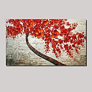 τεντωμένο (έτοιμος να κρεμάσει) ζωγραφισμένα στο χέρι ελαιογραφία κόκκινο κεράσι τοπίο ανθίσει δέντρο της τέχνης τοίχων ζωής
