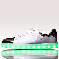 Men's Shoes LED light Athletic / Casual Leather Fashion Sneakers Black / White