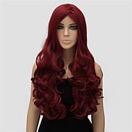 נשים ארוך גל גוף צבע אדום איכותי פאה סינטתית