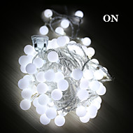 5M Led String Lights With 50Led Ball Ac220V Holiday Decoration Lamp Festival Christmas Lights Outdoor Lighting