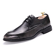 Men's Shoes Wedding / Office & Career / Party & Evening / Dress / Casual Synthetic Oxfords Black / Brown