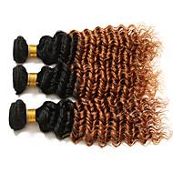 Ombre Włosy brazylijskie Kręcone 6 miesięcy 3 elementy sploty włosów