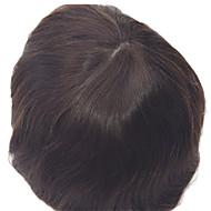 """8 """"x10"""" tupety męskie naturalny kolor włosów 1b prosto w stanie się tupety bazowe skóry"""