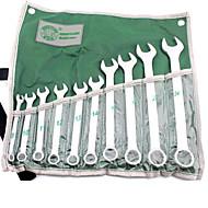 berrylion® 10 sett med kombinasjonsnøkler åpne nøkkel satt kit maskinvare håndverktøy